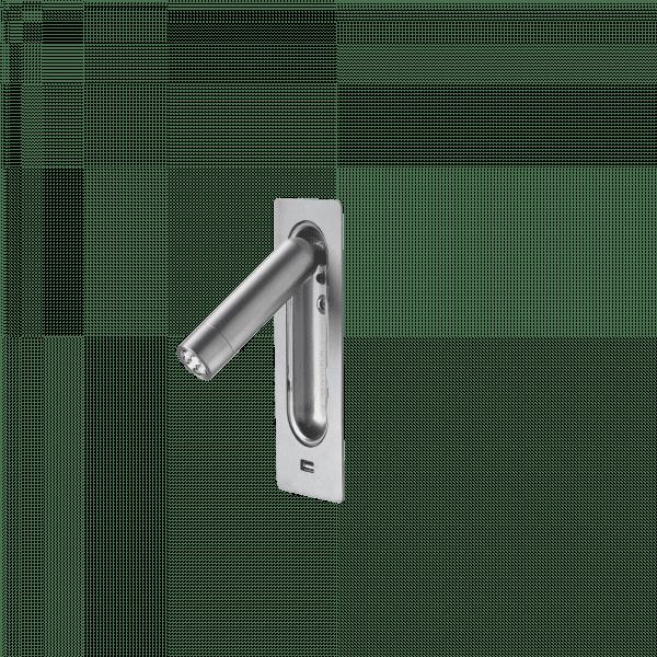 marset Wandleuchte Ledtube RSC USB Aluminium satiniert cut-out