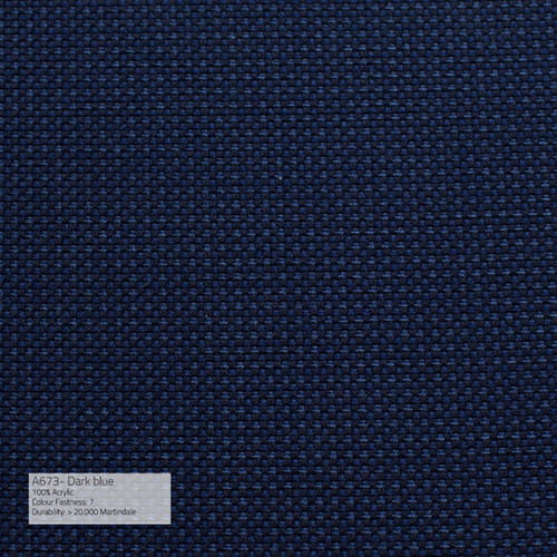 Sika Design Exterior Hocker Monet Alu Outdoor - Kissen Dark Blue