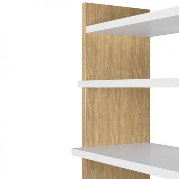 Temahome Bücherregal Niko - Eiche / Weiß, Detail