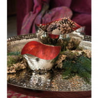 Fink Living Schale Lucile - Silber / Rot - Ambiente