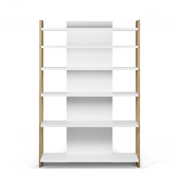 Temahome Bücherregal Niko - Eiche / Weiß