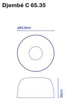 marset Deckenleuchte LED Djembe C 65.35 Maße