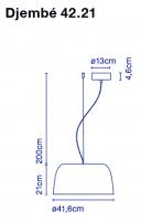 marset Pendelleuchte LED Djembe Maße 42.21