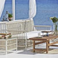 Sika Design Exterior Sofa Caroline aus Alu Rattan Dove White