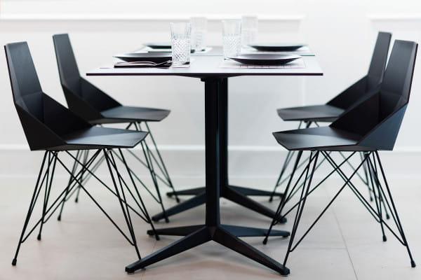 Armlehnen-Stuhl Faz Inox